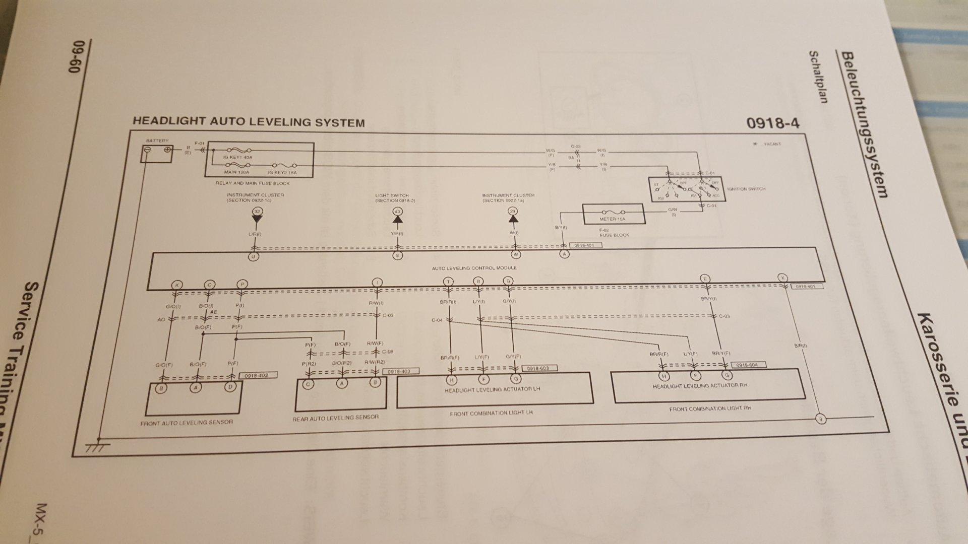 Schaltplan MX 5 NCFL