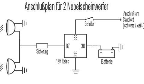 Ausgezeichnet Relais Für Nebelscheinwerfer Schaltplan Bilder - Die ...