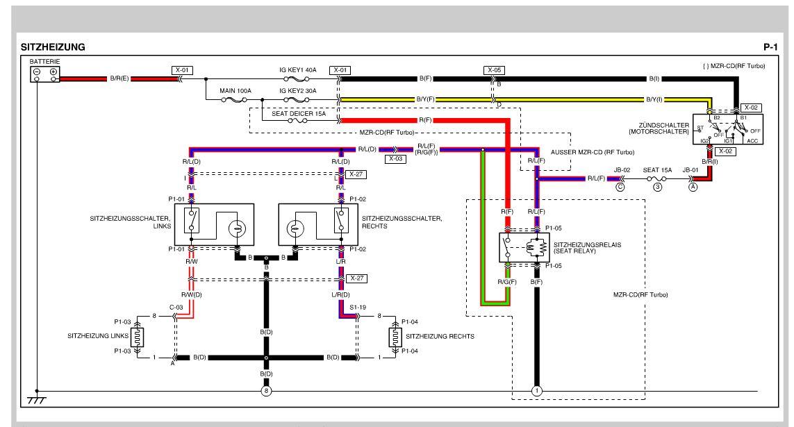 Atemberaubend Mazda Schaltplan Fotos - Elektrische Schaltplan-Ideen ...